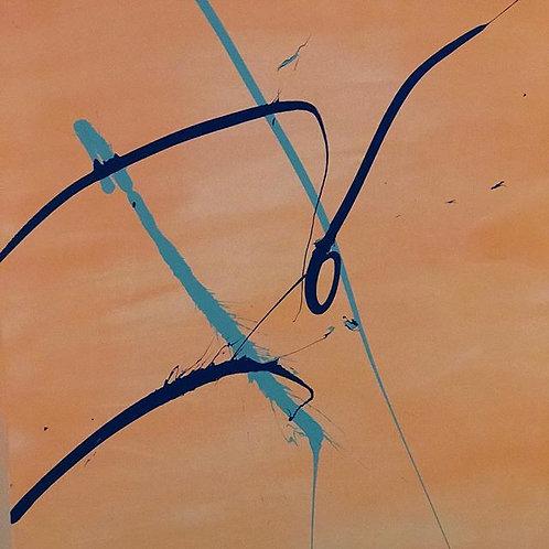 """High Tide, 30"""" x 40"""", Acrylic on Canvas."""