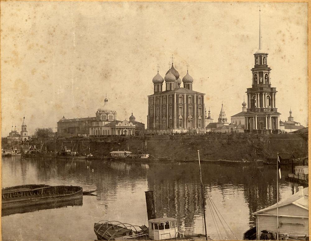 Панорама Рязанского Кремля. Фотография начала XX века.