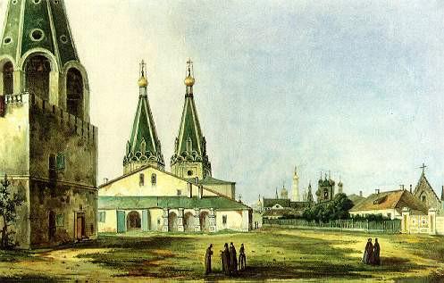Собор Алексия Человека Божьего в Алексеевском монастыре. Уничтожен в 1838 году