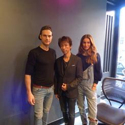 左:ライアン・クーパー / モデル、俳優 右:リズ・クーパー(リジー・バーター)/モデル