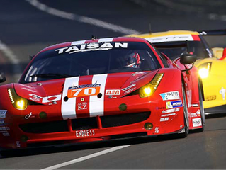 Team Taisan's Ferrari 458 ran in the Le Mans 24-hour endurance race
