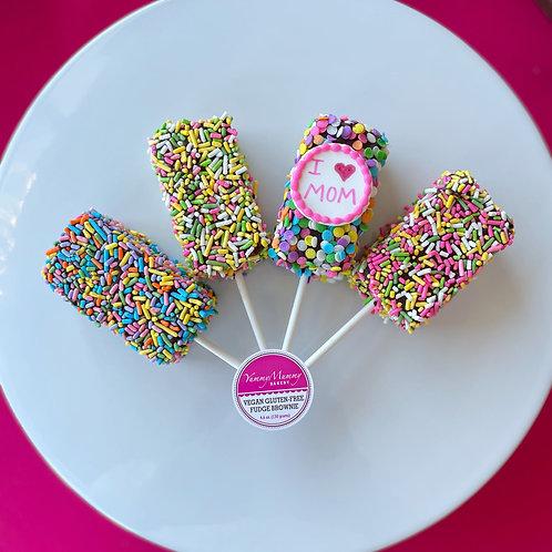 Mother's Day Gluten-Free Vegan Brownie Pops (BCHL)