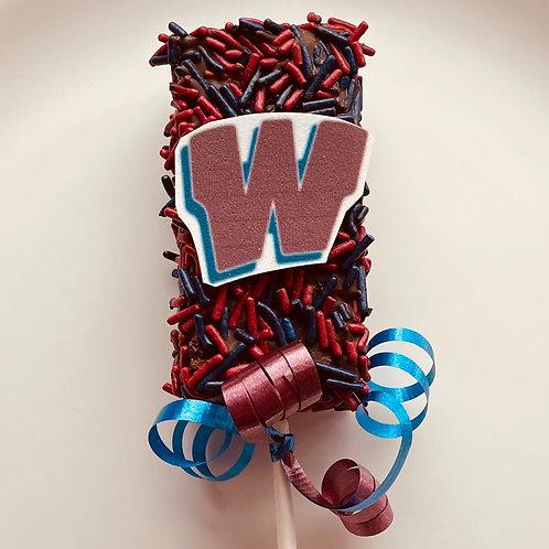 """""""W"""" Westborough Brownie Pop"""