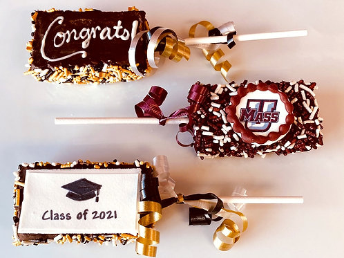 Graduation Brownie Pops! (3) - Shipping Included