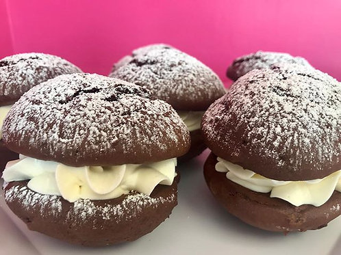 Chocolate Whoopie Pies with Filling Options