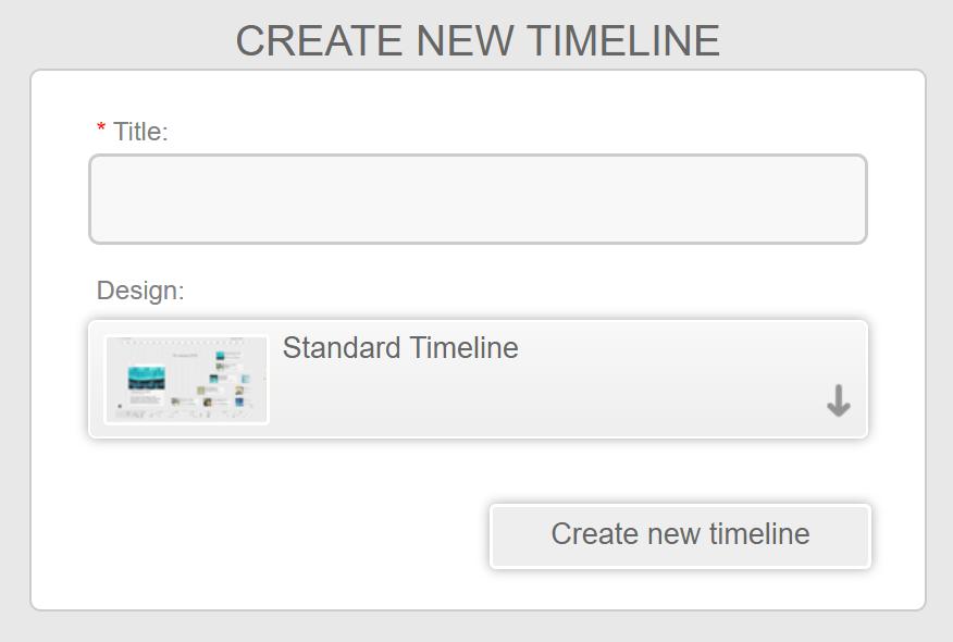 create a new online timeline on chronoflo
