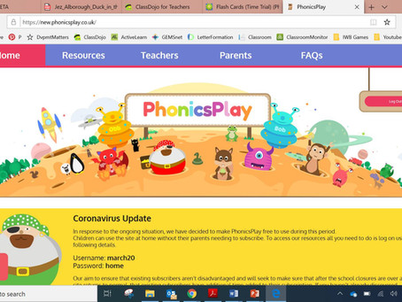 FREE mobile friendly Phonics games at Phonics Play