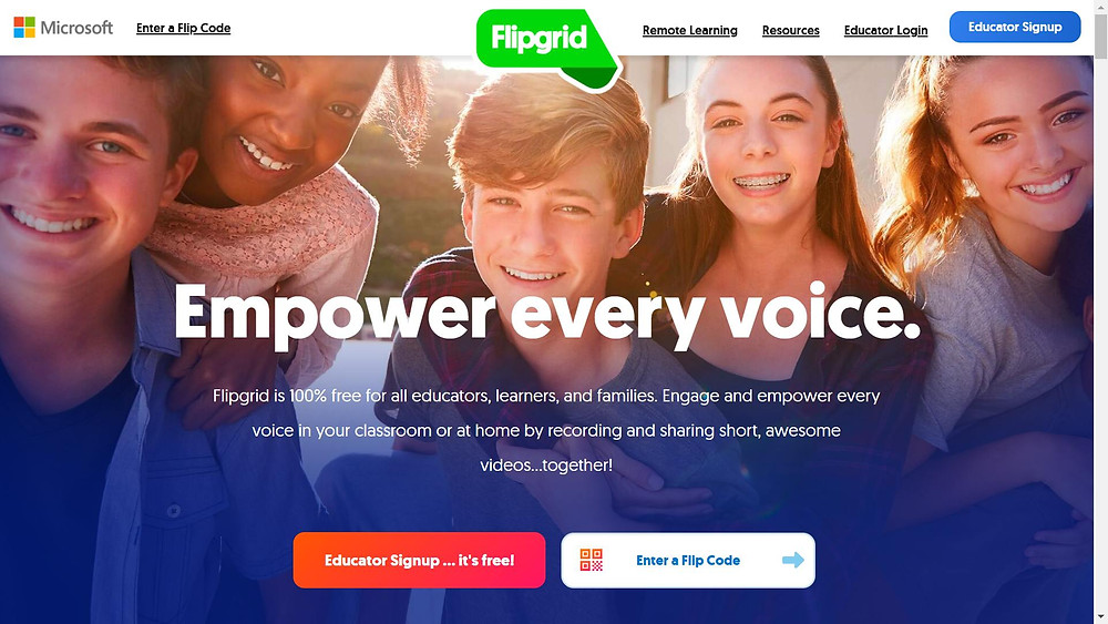 Flipgrid is an online learning platform for kids that wants to empower students to speak