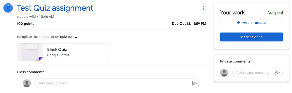 what is the difference between turned in and handed in on google classroom