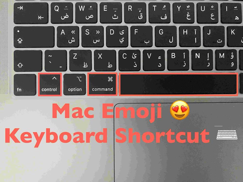 Mac emoji keyboard shortcut keys control command space apple
