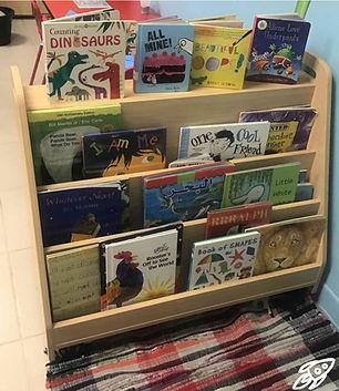 Reading corner book shelf how tidy looks
