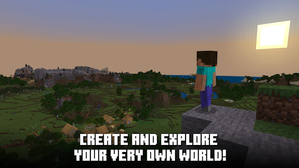 Create and explore your very own world in minecraft video game