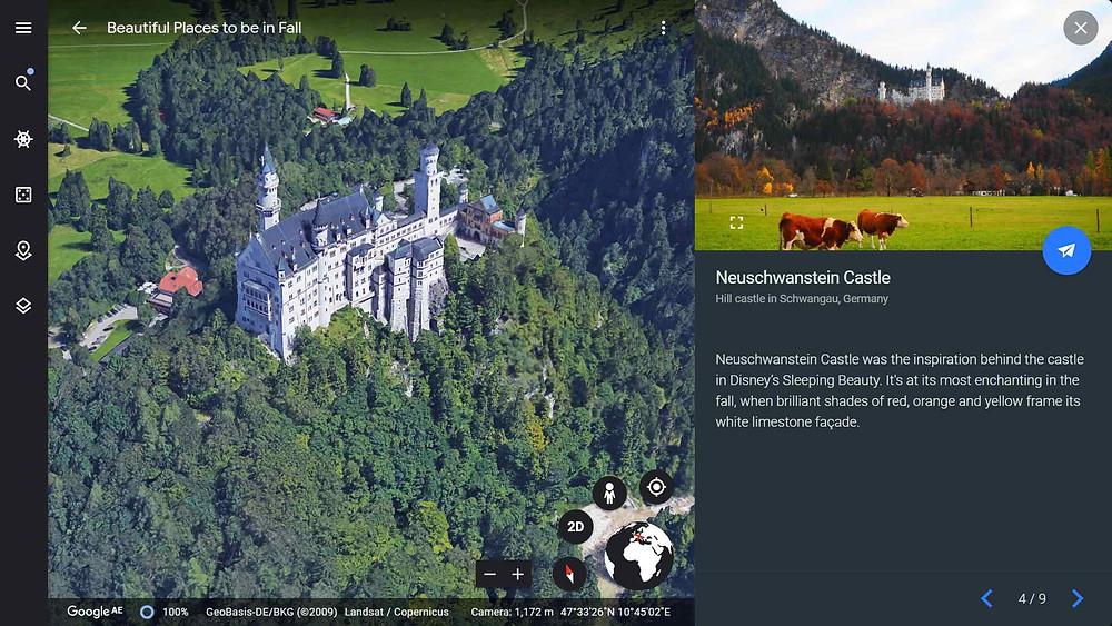 Sleeping Beauty's castle or Neuschwanstein Castle in Germany