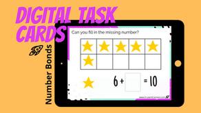 FREE Number Bonds Digital Task Cards (5-Deck Boom Card Bundle)