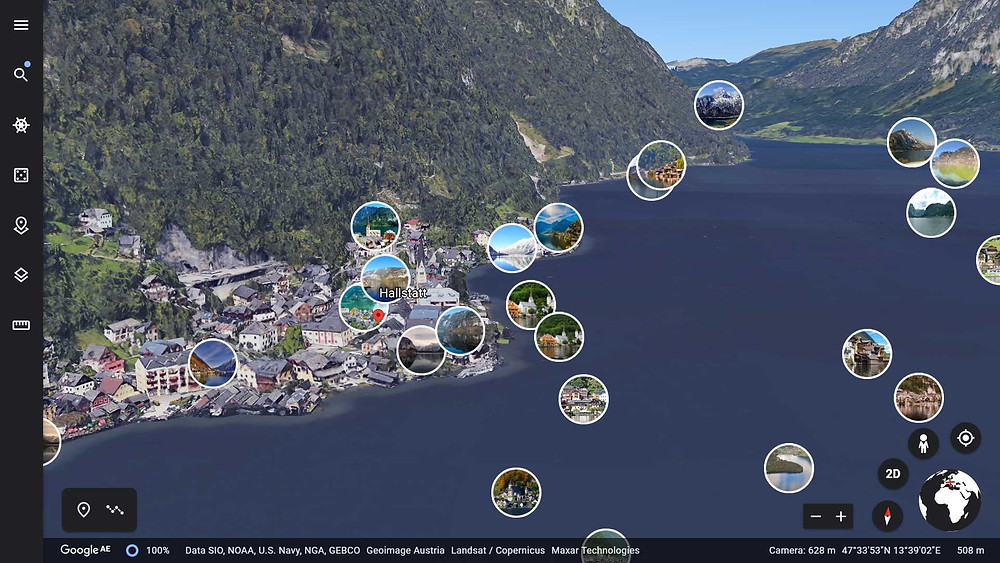 Google earth screenshot with photos option switched on