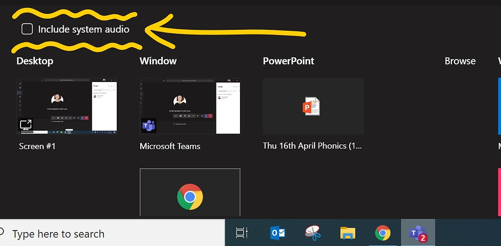 check if you are sharing audio in Microsoft teams  meetings