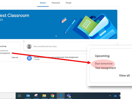 What does Due Tomorrow Mean in Google Classroom?