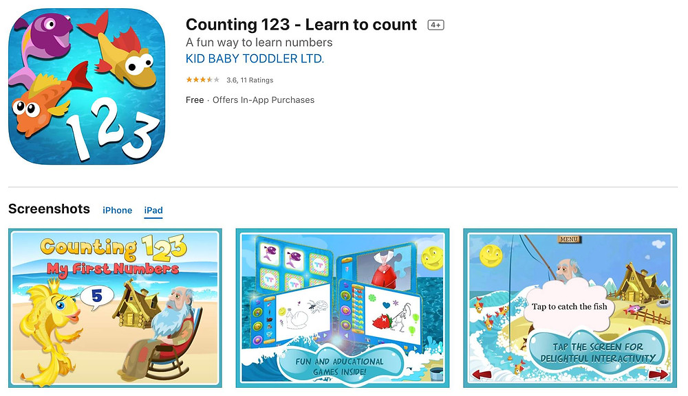 counting apps on ipad for kids learning addition at home