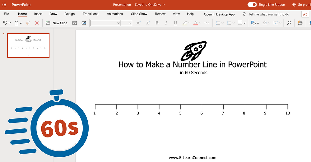 make your own number line at home in just 60 seconds powerpoint