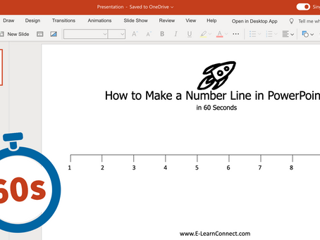 Make Number Lines in PowerPoint in Just 60 Seconds