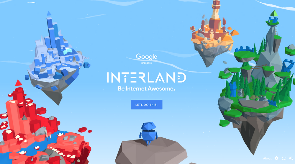 Learn to be 'Internet Awesome' in Google's Interland, an interactive game about online safety for kids.