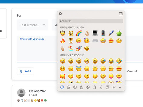 How to use Emojis in Google Classroom