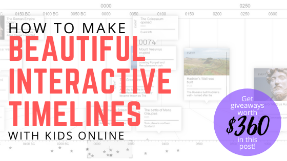 how to make beautiful interactive timelines online with kids free giveaway chronoflo