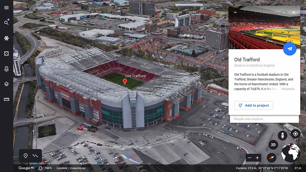 Old Trafford, home of Manchester United Football Club