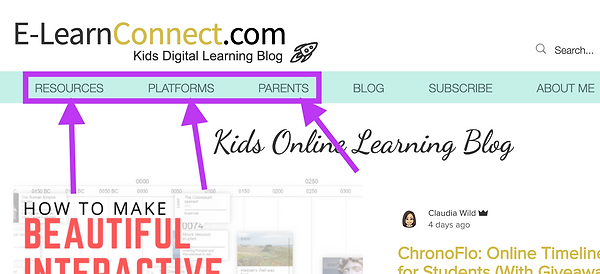 Parent support online learning home learning resources, big topics for parents and online learning platforms