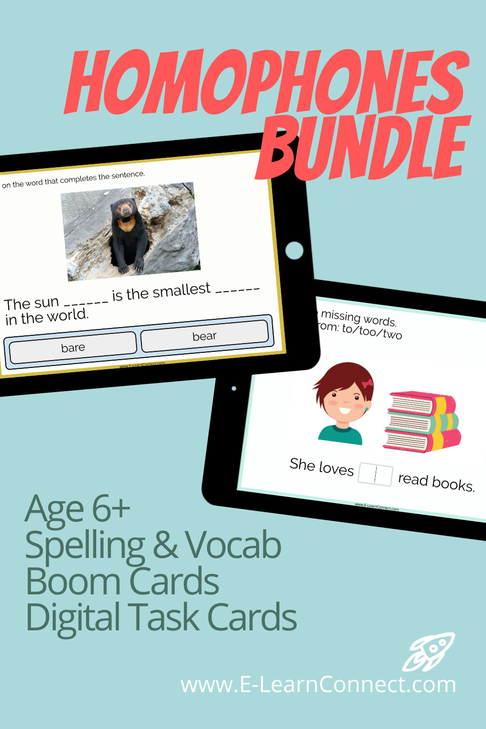 boom cards homophones for kids home learning ipad activity spelling english language