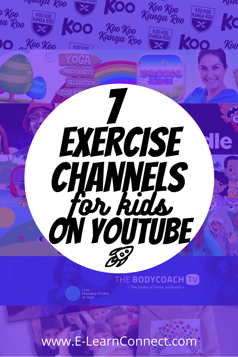 list of exervice video channels on youtube for kids at home active