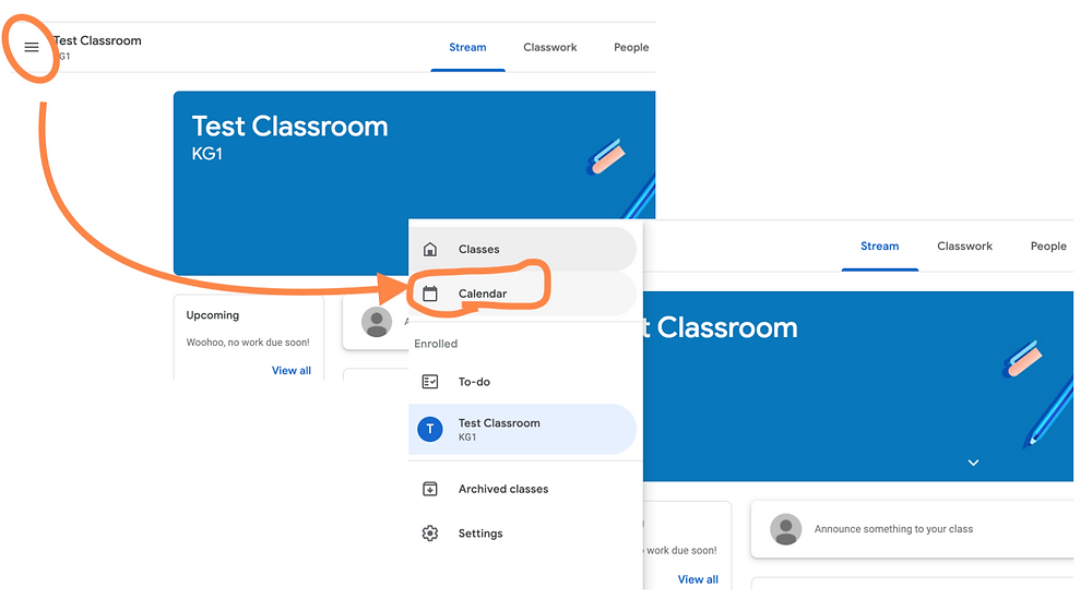 check what time assignment is due on google classroom