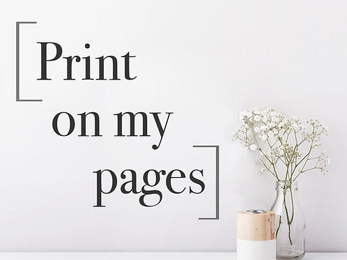 PRINT SERVICE - Print on my guest book pages [8.5x11 ONLY]