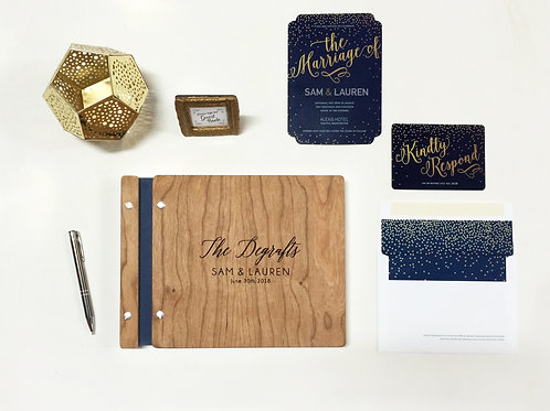 Navy Wedding Guest Book