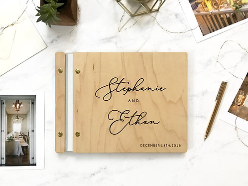 Bohemian Wedding Guest Book, Wood Guest Book, Guest Book, Photobooth Guest Book