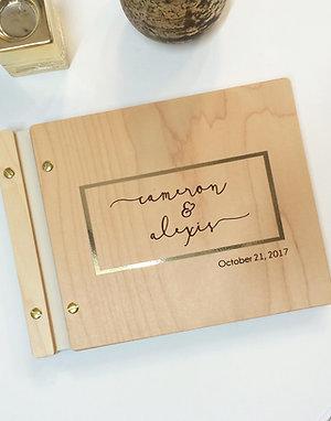 Gold Foil Wedding Guest Book 8.5x11