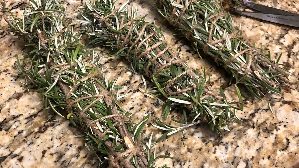 Rosemary cleansing wand: set of 3