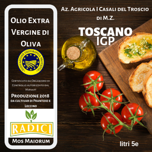 Olio Extra Vergine d'Oliva IGP Toscano 3 litri