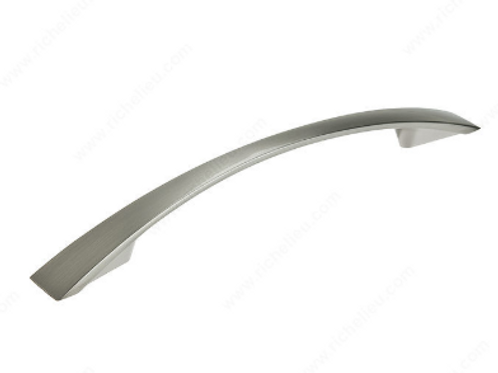 "Richelieu 6.85"" Contemporary Brushed Nickel Pull"