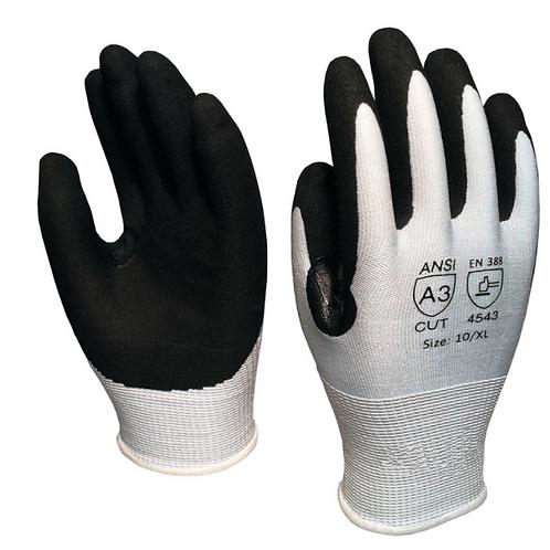 Cut Resistant Glove, Black Nitrile Coated