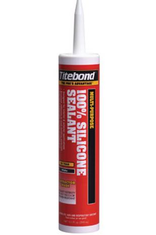 Titebond 100% Silicone Sealant - Clear 10.1 oz