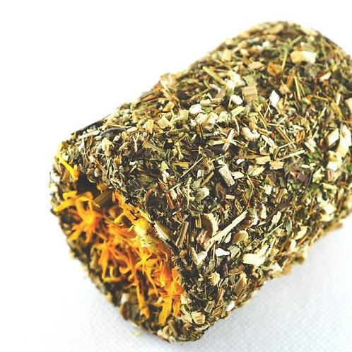Echinacea snack met aardpeer en goudsbloem