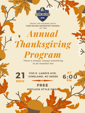 Enjoy a Thanksgiving Evening with us (1)