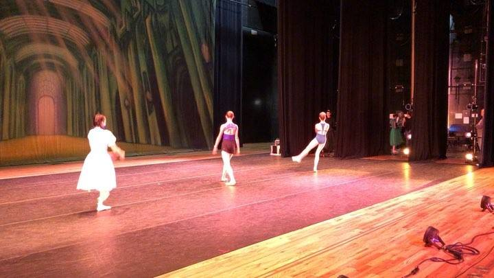 All three dancers rehearsing together as Dorothy. Come see our third show of the week! This time it's The Wizard of Oz at the Newman Center! Today at 6pm, Sunday at 12pm, and Sunday at 5pm. www.littletonyouthballet.org #littletonyouthballet #littleto