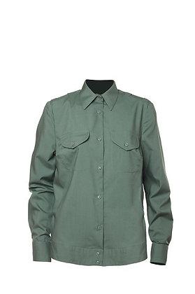 Рубашка МО оливковая с длинным рукавом