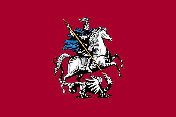 Флаг герб Москвы