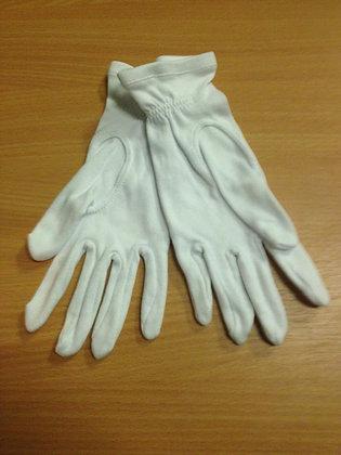 Перчатки белые парадные х/б