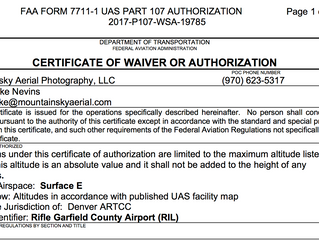 MountainSky Aerial Receives FAA NAS authorization for Rifle Garfield Airport (RIL)