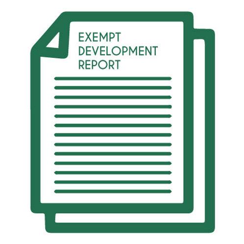 Exempt Development Reports