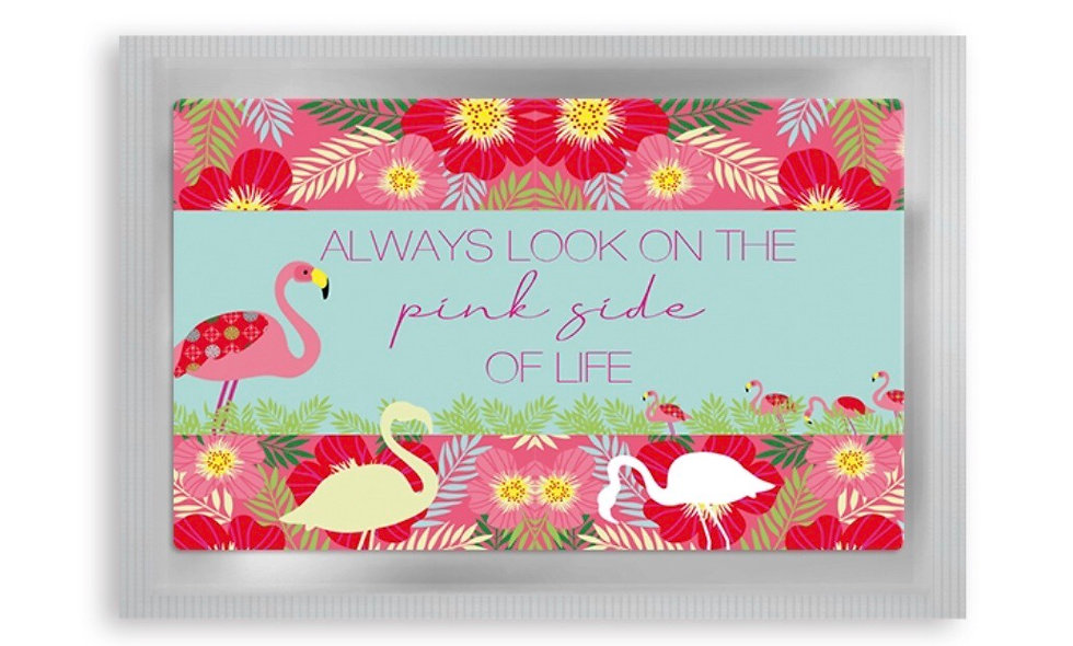 "Teepostkarte ""Flamingo"""